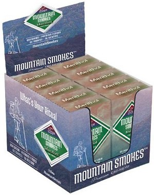 Carton of 10 Menthol 35 mg CBD MOUNTAIN SMOKES